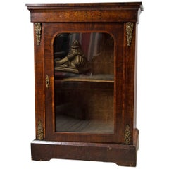 Victorian Period Single Glass Door Cabinet