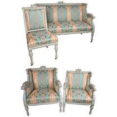 Four Piece Painted Louis XVI Suite
