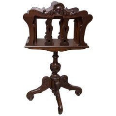 Mahogany Canterbury on Pedestal Stand