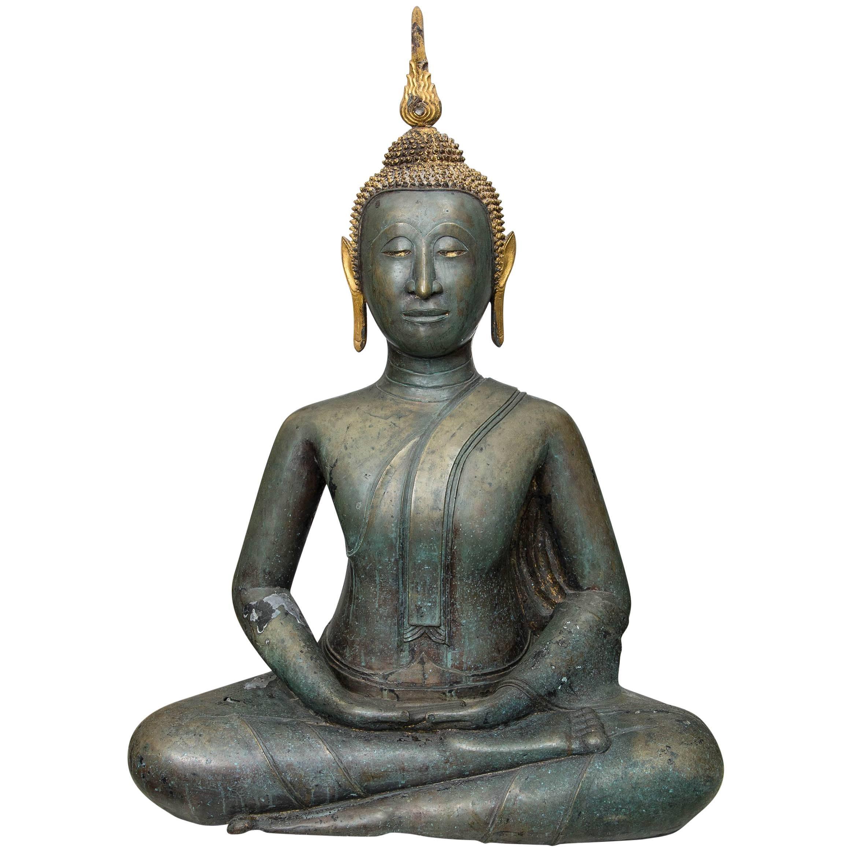 Thai Bronze Seated Buddha