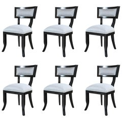 Set of Vintage Custom-Made Re-Upholstered Dining Chairs