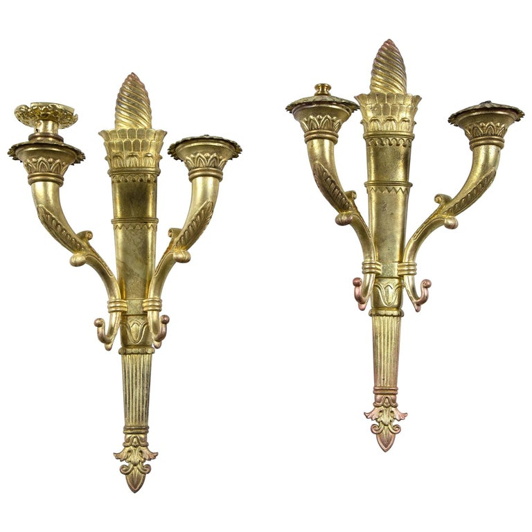 Pair of circa 1920 French Empire Sconces