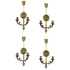 Set of Four circa 1930s French Empire Sconces