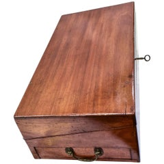 19th Century Mahogany, Bronze and Bone English Boat Deck Box