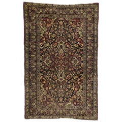 Antique Persian Kerman Rug with Traditional Style, Antique Kirman Persian Rug