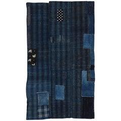 Antique Japanese Indigo Boro Futon Cover