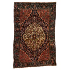 Antique Persian Farahan Rug with Modern Traditional Style