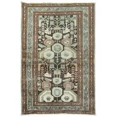 Antique Persian Malayer Rug in Earth Tones