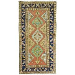 Antique Persian Heriz Rug in Bright Colors