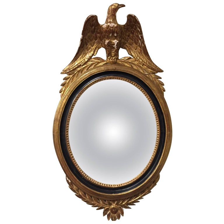 Late 19th Century Regency Bullseye Convex Mirror 1