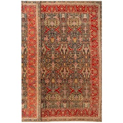 Late 19th Century Multicolored Indian Agra Carpet