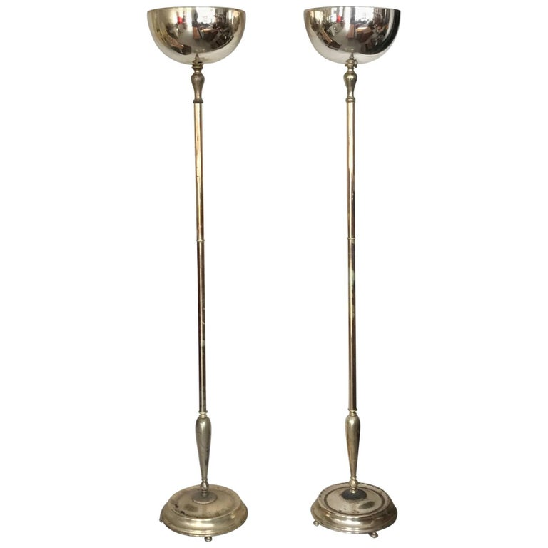 Pair of Elegant Torcheres Hollywood Regency For Sale