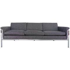 Upholstered Stainless Steel Sofa by Horst Brüning for Alfred Kill International