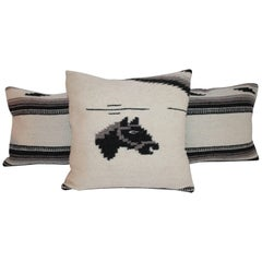 Woven Wool Horse Blanket Pillows or Collection of Three