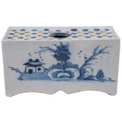 Blue and White Delft Flower Brick
