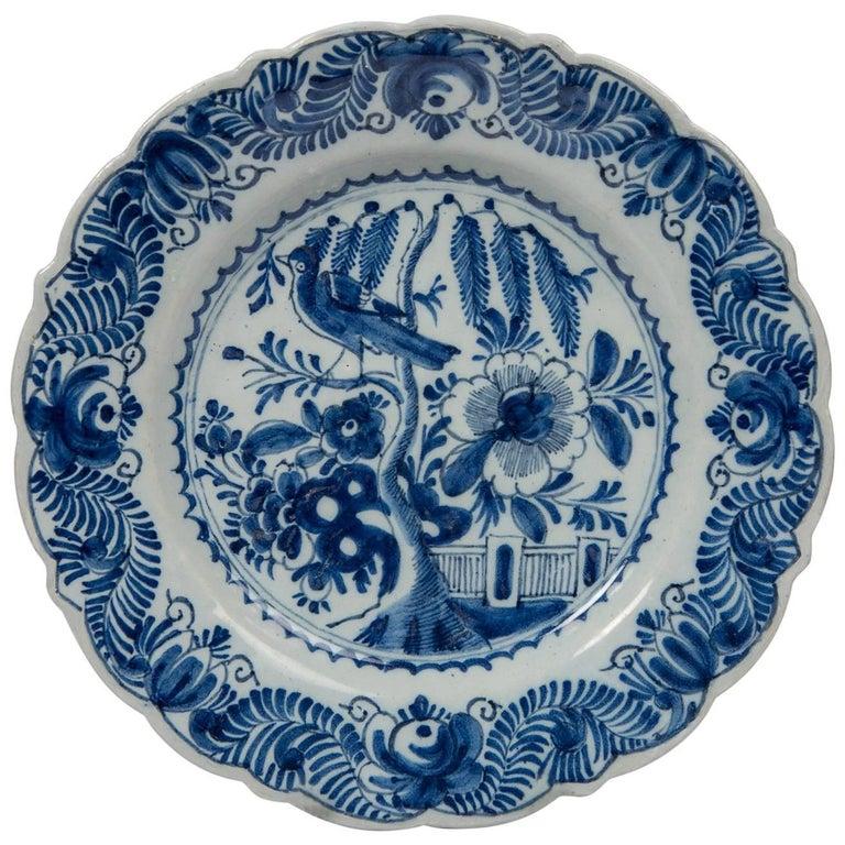 Antique Blue and White Delft Dish