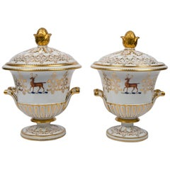 Pair of Tureens with Armorial Crests