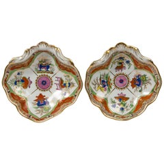Worcester Bengal Tiger a Pair of Shell Shaped Dishes