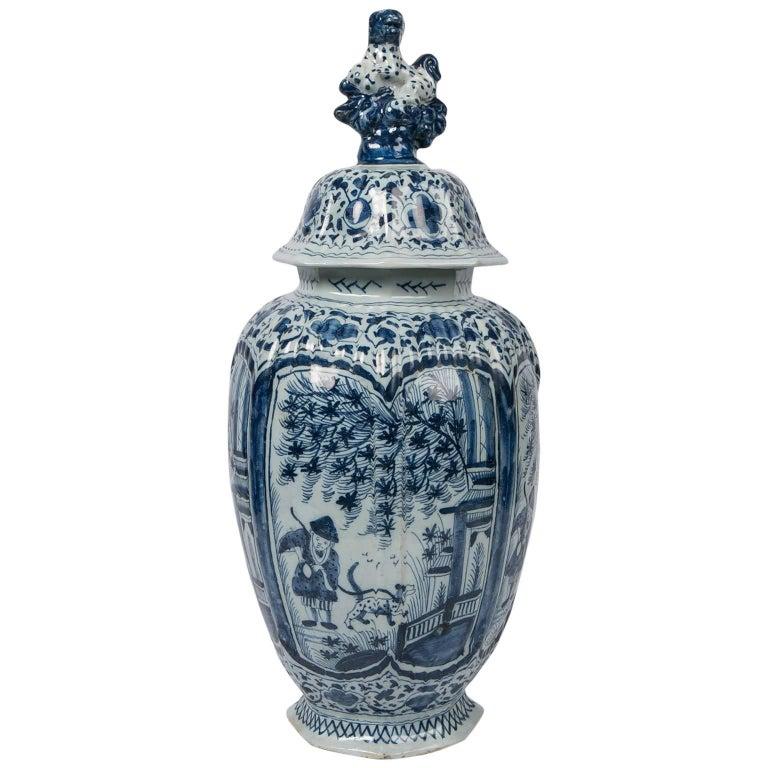 Blue and White Dutch Delft Jar