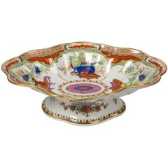 Bengal Tiger Bowl with Attached Stand Made by Chamberlains Worcester