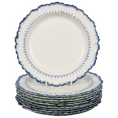 Set of 11 Wedgwood Blue and White Antique Dishes