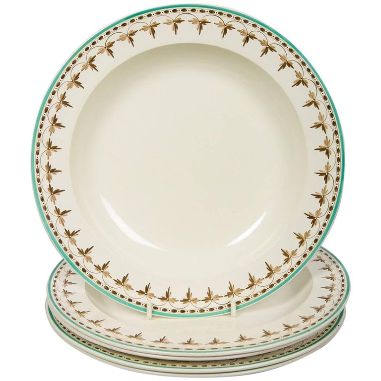 Wedgwood Creamware Soup Dishes from 18th Century, Set of 11 For Sale