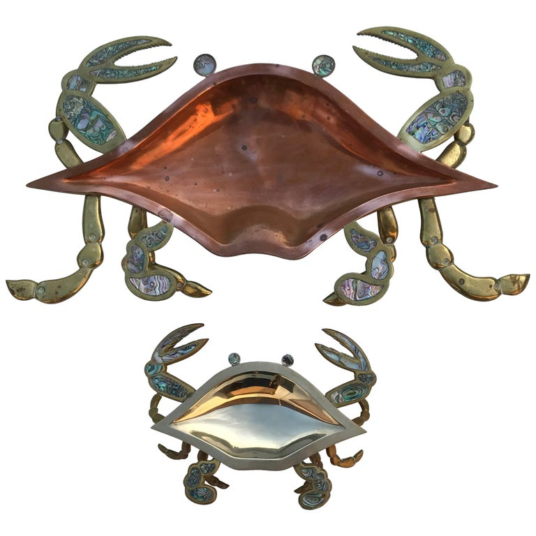Brass Crab Mother and Baby