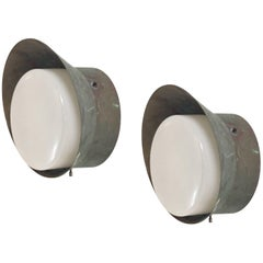 Pair of Outdoor Wall Lights by Falkenbergs, Sweden, 1970s
