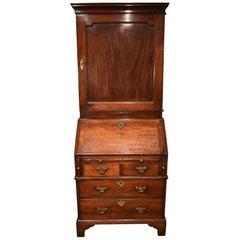 Fine Small George II Mahogany Bureau Bookcase