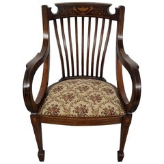 Late 19th Century English Mahogany Regency Style Armchair