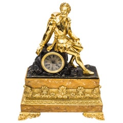 19th Century French Ormolu and Bronze Mantel Clock