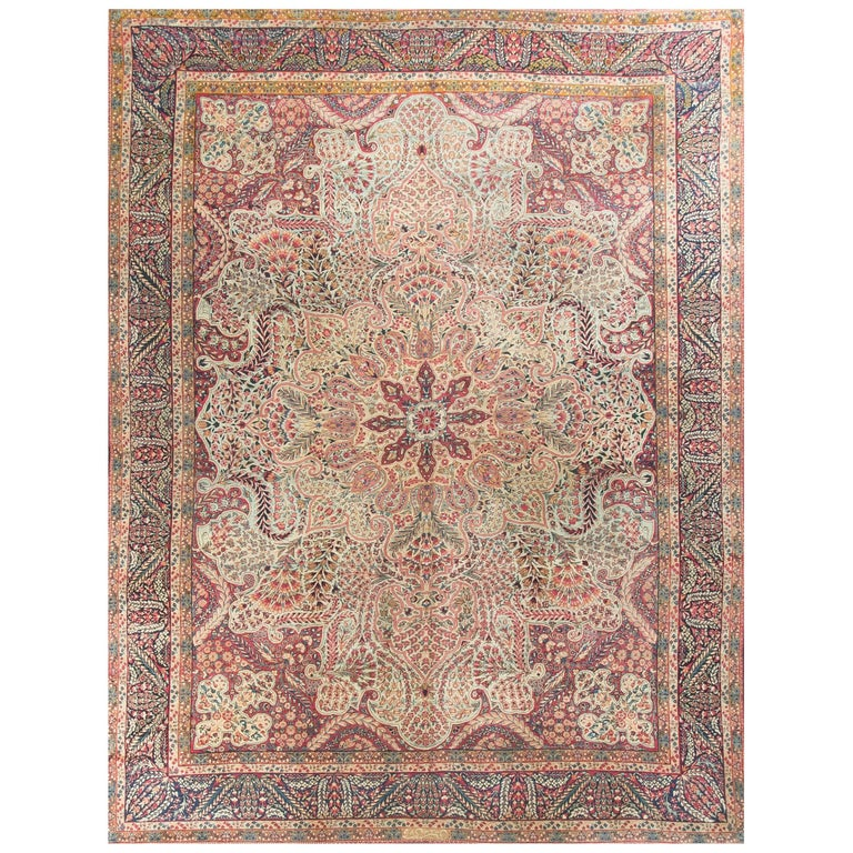 Antique Persian Kerman Rug