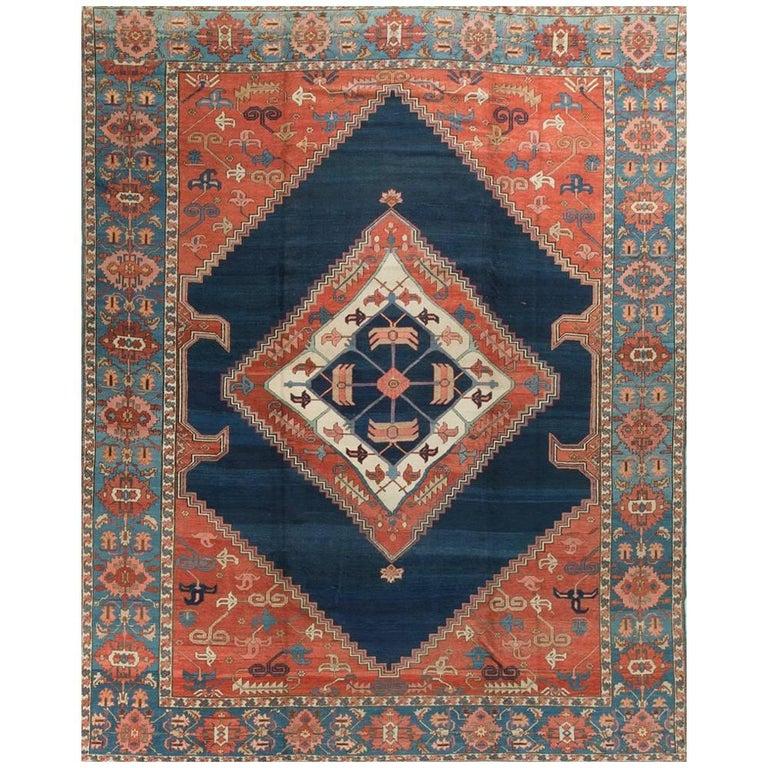 Antique Persian Serapi Rug Carpet circa 1890 For Sale