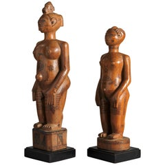 Pair of Fine Sculptures, DRC, Zela, 1920-1930, J.Humblet