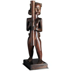 Mother and Child Sculpture, Cameroon, Mabea, 1920-1930, Provenance Ratton