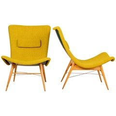 Pair of Lounge Chairs by Miroslav Navratil for Český Nábytek, 1959