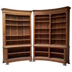 19th Century Louis Phillippe Circular Liberary Bookcase, Four Solid Oak Elements