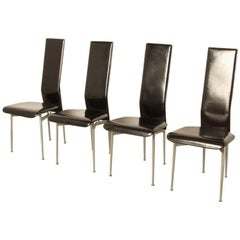 Set of Four S-44 Chairs by Giancarlo Vegni & Gianfranco Gualtierotti for Fasem