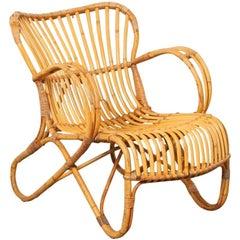 Rattan RB-2 Lounge Chair by Dirk van Sliedrecht for Rohe Noordwolde