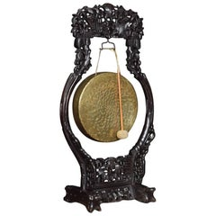 Large Chinese Carved Dinner Gong
