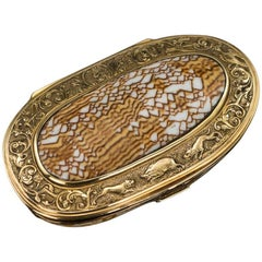 Antique Continental 18 Karat Gold-Mounted Cowry Shell Snuff Box, circa 1780