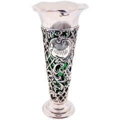 Gorham Vase with Green Liner