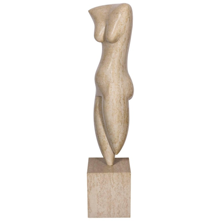 Marble Abstract Figural Sculpture by Oriani, Italy, 1985