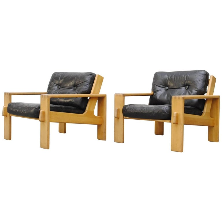 "Pair of Finnish ""Bonanza"" Lounge Chairs"