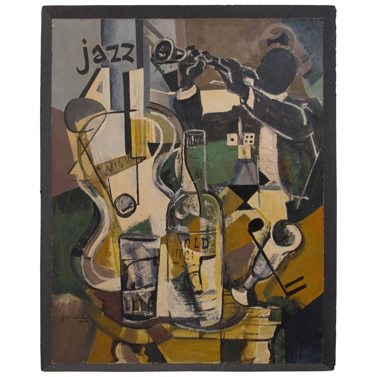Midcentury Jazz Abstract Painting 1