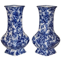 19th Century Pair of Staffordshire Vases