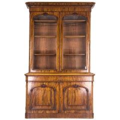 Antique Bookcase Mahogany Display Cabinet Scotland, 1860 B901