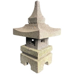 Japan Stone Tea Garden Lantern, Small Portable Size