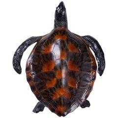 Life-Like Resin Turtle Sculpture