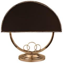 French Art Deco Nickel Desk Lamp
